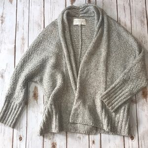 Angel of the North Slouchy Grey Knit Cardigan